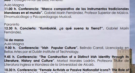 II Jornadas de Estudios Irlandeses en la Universidad de Almería (St. Patrick's Day)