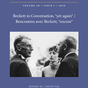 "New publication: an special issue in ""Samuel Beckett Today/Aujourd'hui"""
