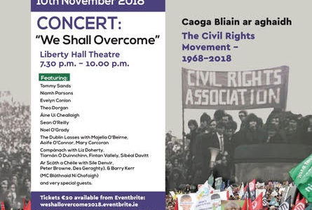 Concert and seminar commemoration 50th anniversary of Civil Rights issue