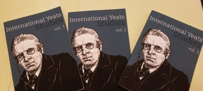 New Publication: International Yeats Studies, Vol. 3