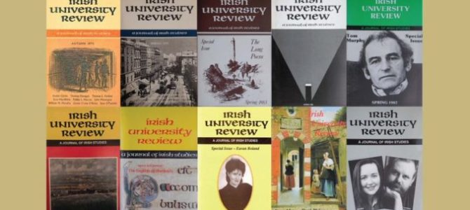 Irish University Review, Celebrating 50 years in 2020! 50th Golden Jubilee Anniversary Edition of The Irish University Review.